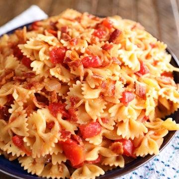 Hot Tomato and Bacon Pasta