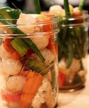 Marinated Vegetables and a Baby Shower