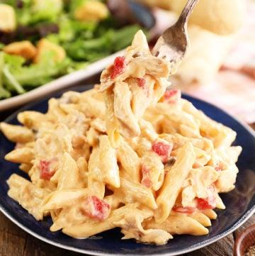 Easy Stovetop Chicken Spaghetti