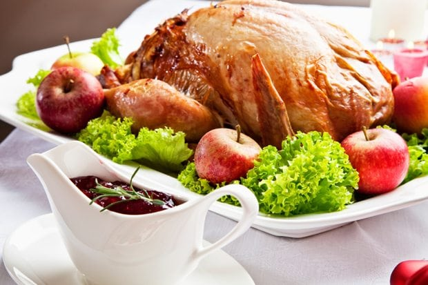 cranberry sauce and turkey
