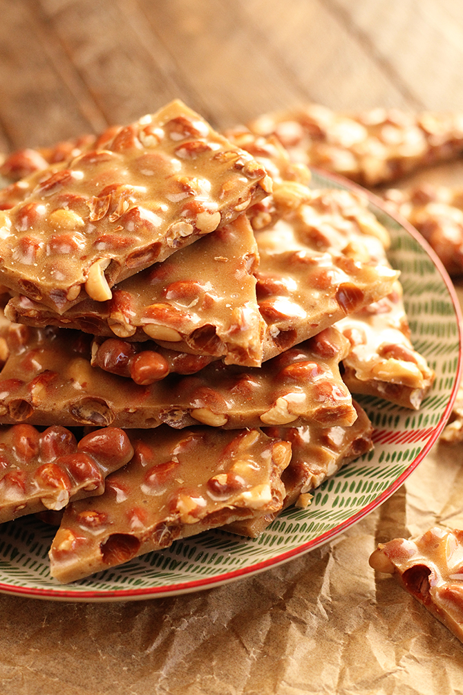 Top view of Peanut Brittle