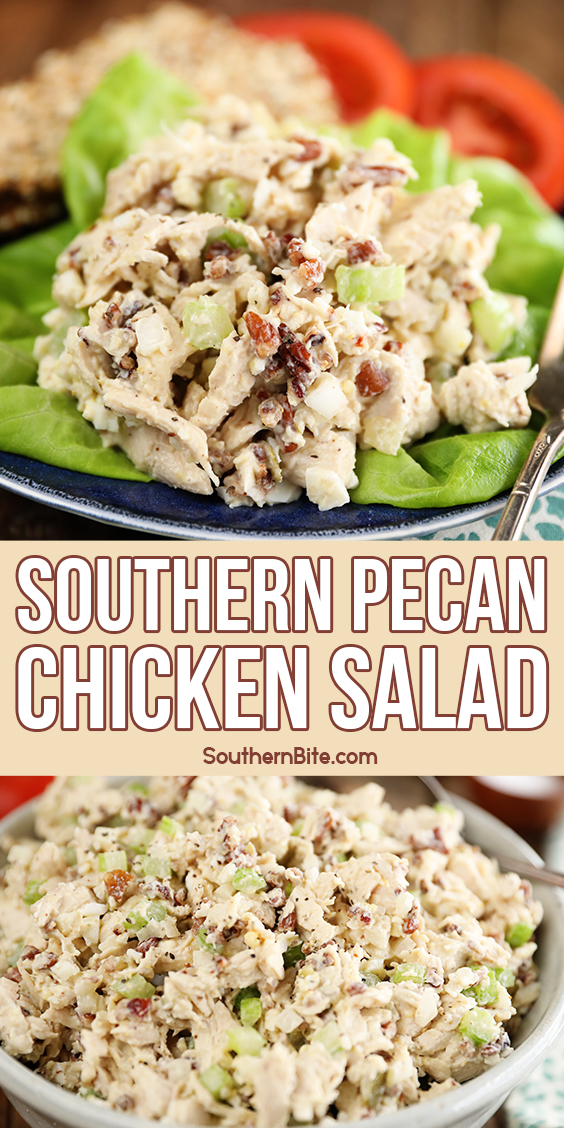 Pinterest image of Southern Pecan Chicken Salad