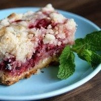 Fresh Raspberry Bars | SouthernBite.com
