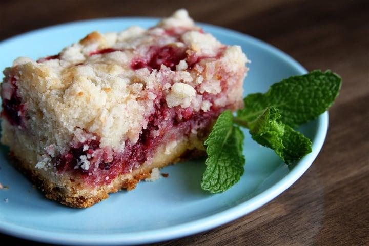 Fresh Raspberry Bars - Southern Bite