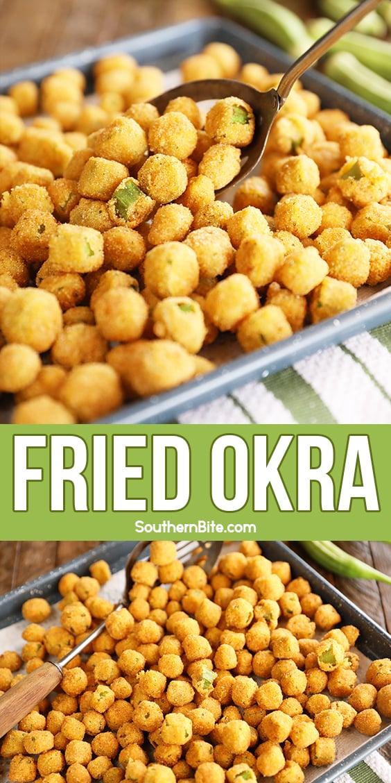 Fried Okra image for Pinterest