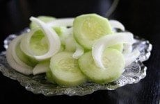 Simple Cucumber and Onion Salad | SouthernBite.com