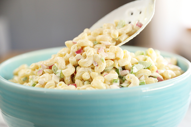 Spoonful of Classic Macaroni Salad