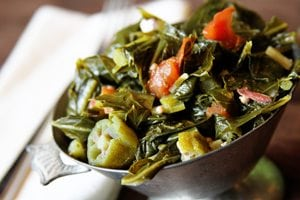 Gumbo Greens and Thoughts on Being Positive
