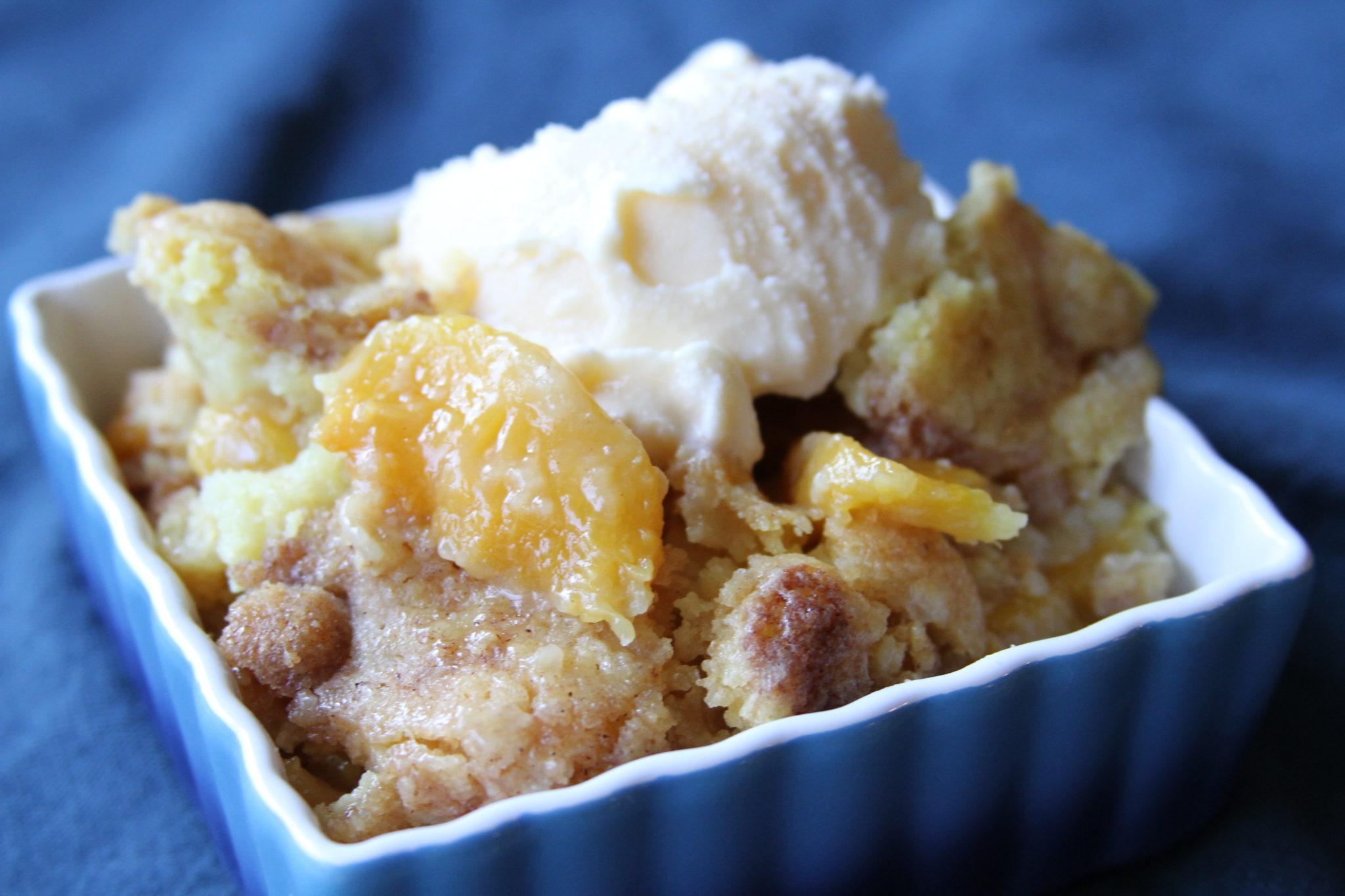 Easy Peach Cobbler Recipe With Jiffy Cake Mix