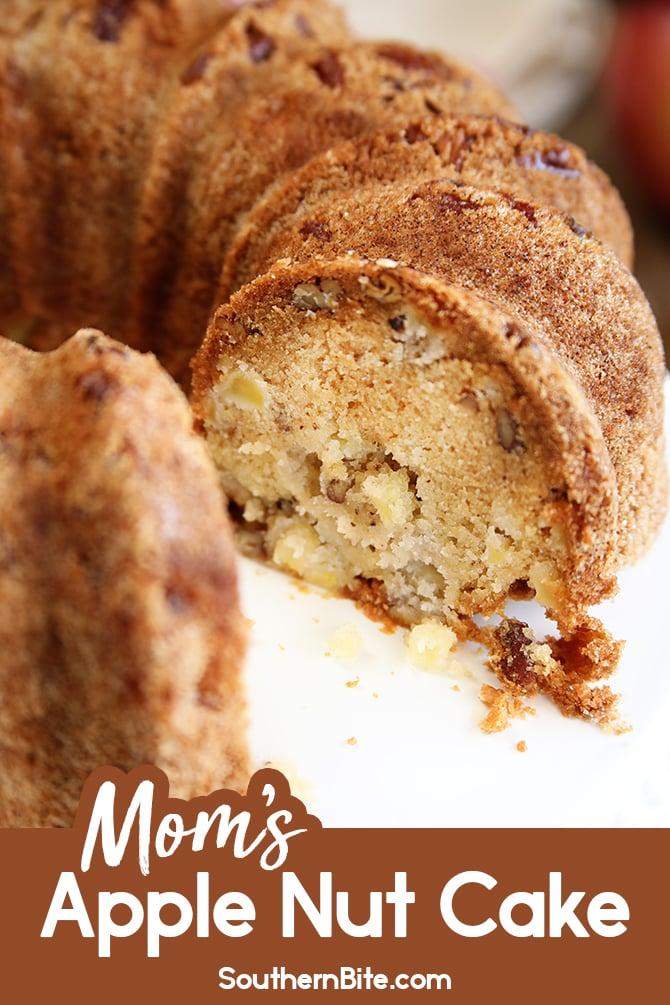 Apple Nut Cake for Pinterest