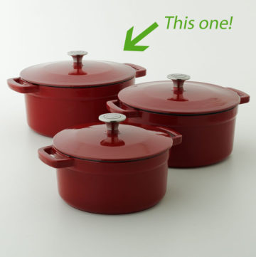 Holiday Give-a-way: Food Network 7 Quart Enamel Cast Iron Dutch Oven