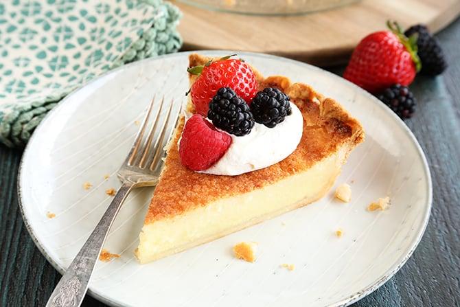 Buttermilk Pie is a classic southern custard pie recipe that makes a perfect dessert!