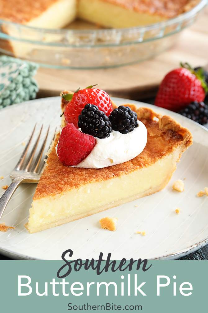 Buttermilk Pie is a classic southern custard pie recipe that makes a perfect dessert!