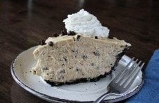 Chocolate Chip Peanut Butter Pie - SouthernBite.com