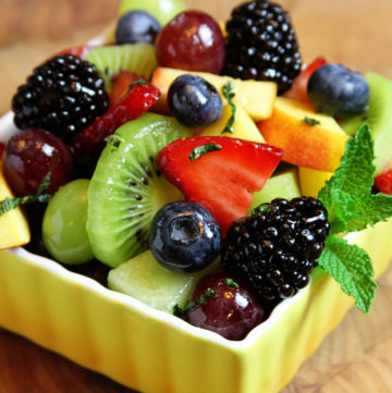 Fresh Fruit Salad with Lime-Honey Dressing