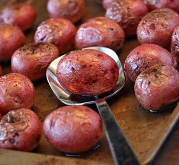 Salt and Vinegar Roasted Potatoes with Kernel Season's