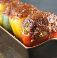 Easy Stuffed Peppers | SouthernBite.com