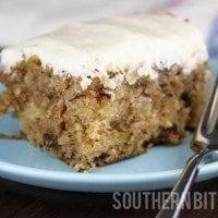 EASY Hummingbird Sheet Cake | SouthernBite.com