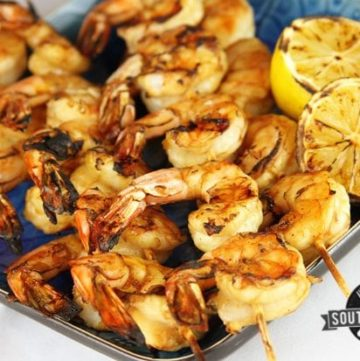 Easy Grilled Shrimp and How to Peel and Devein Shrimp [Video and Recipe Included]