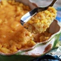 Cheesy Corn and Rice Casserole | SouthernBite.com