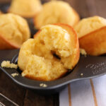 Sweet Cornbread Muffins in muffin tin
