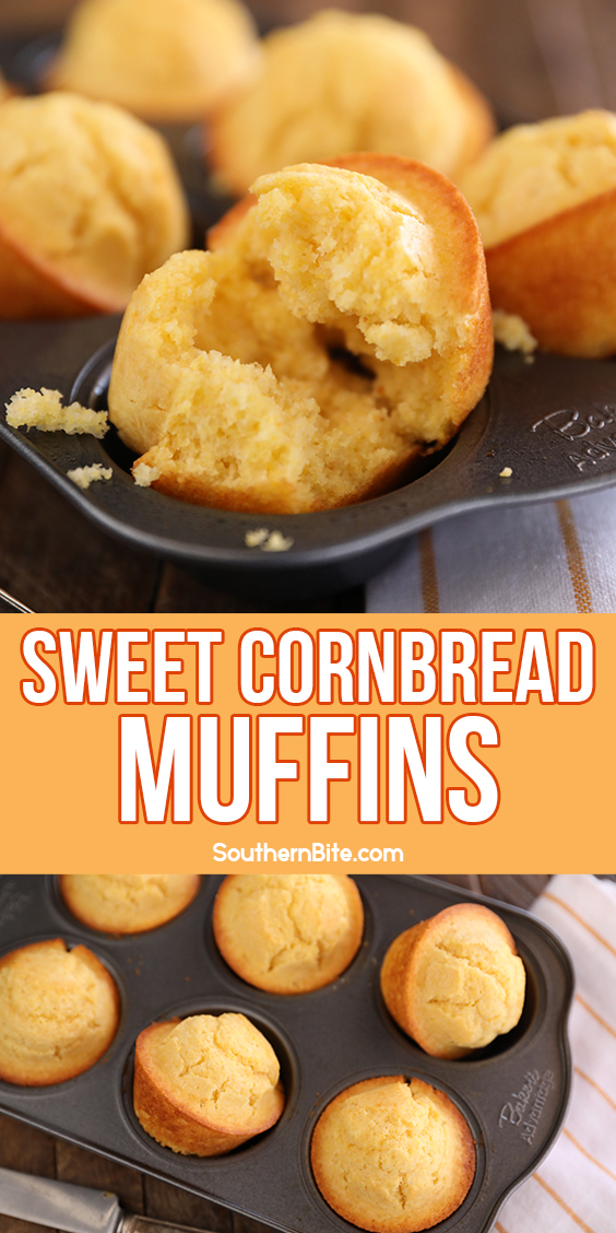 Sweet Cornbread Muffins - image for Pinterest