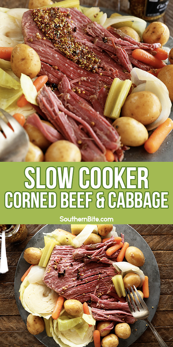 Slow cooker corned beef and cabbage for Pintrest