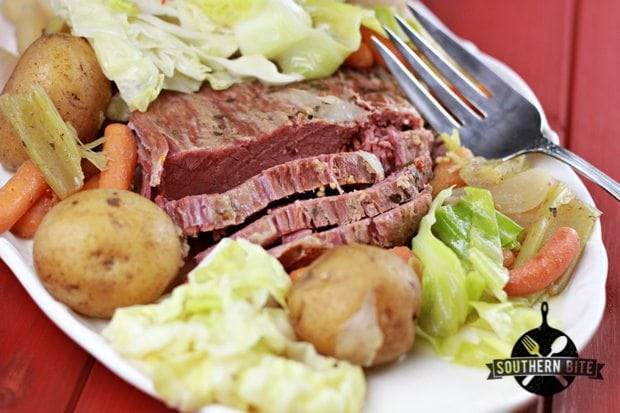 Slow Cooker Corned Beef and Cabbage - Southern Bite