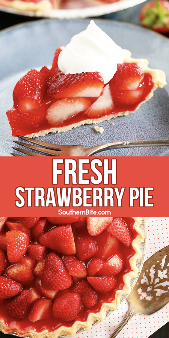 Strawberry pie for Pinterest