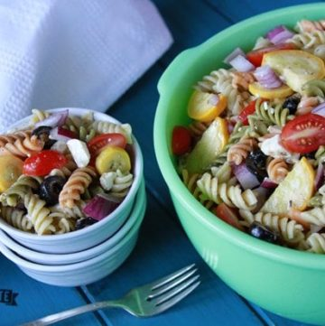 Greek Pasta Salad and a Little About Perspective