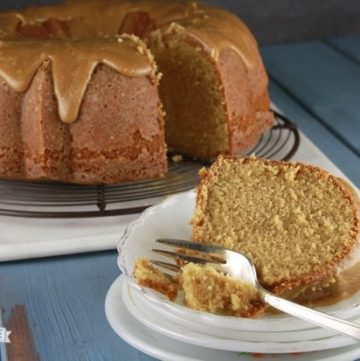 Caramel Pound Cake – A Virtual Potluck for Christy