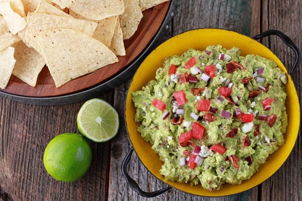 Bacon and Blue Cheese Guacamole