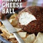 Peppery Ranch Cheese Ball with pita chips