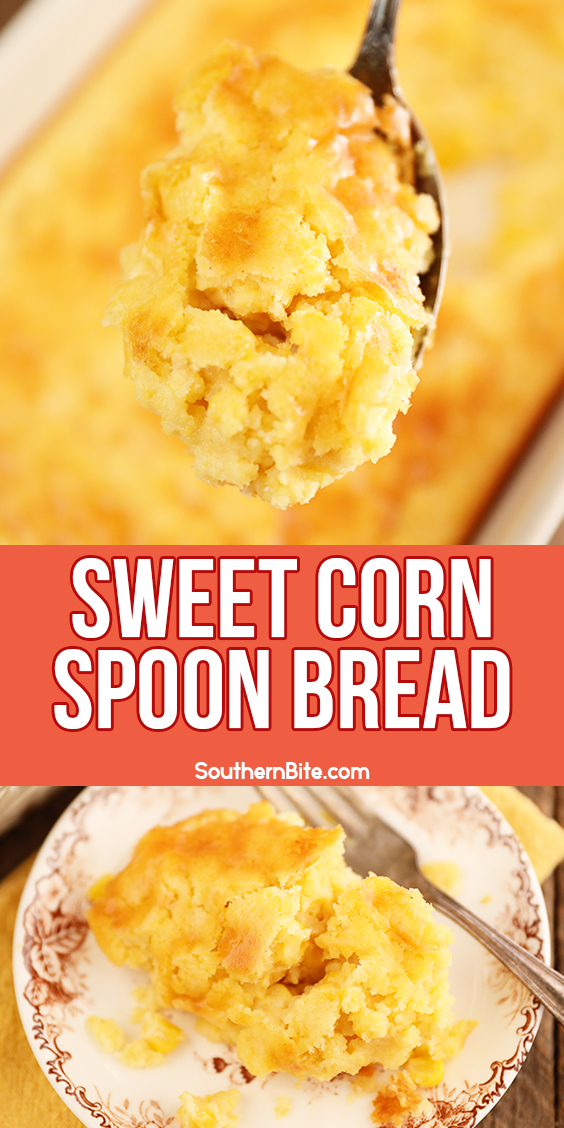 Sweet Corn Spoon Bread - image for Pinterest
