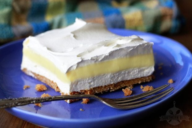 This Lemon Icebox Delight is the perfect sweet and tart layered dessert for summer!