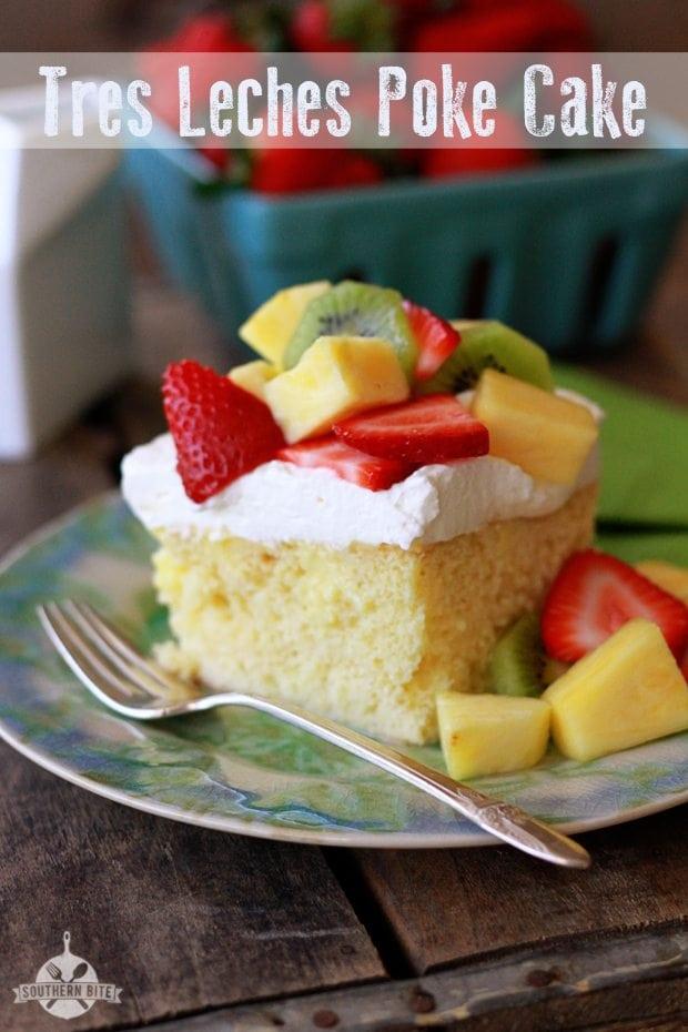 Tres Leches Poke Cake (3 Milk Poke Cake) - Southern Bite