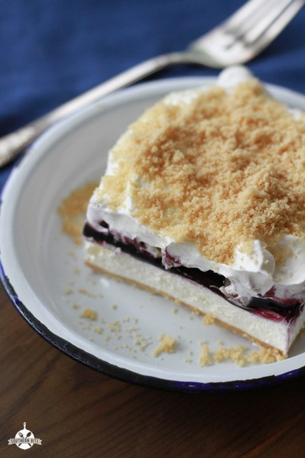 This recipe for Blueberry Yum Yum is the perfect creamy layered dessert for summer!