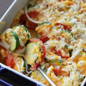 Zucchini and Tomato Bake and Being the Statue