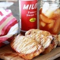 Ginger Sweet Tea Brined Pork Chops