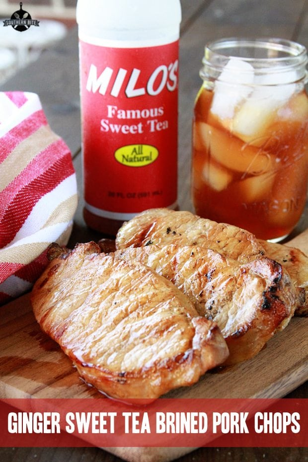 Ginger Sweet Tea Brined Pork Chops - Pinterest