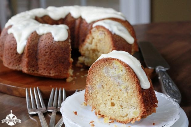 Banana Pineapple Pound Cake