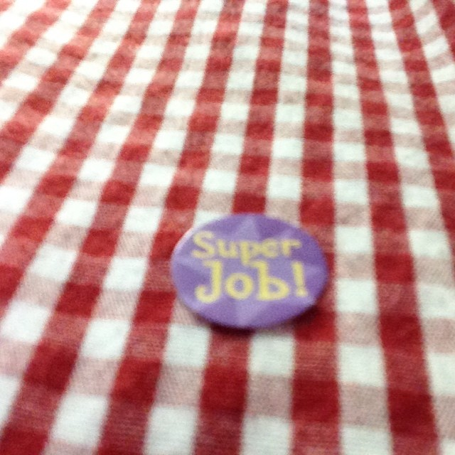 Jack gave me a sticker this morning for brushing my teeth well and informed me it will still need to be on my shirt when I pick him up this afternoon.  #lovethatkid