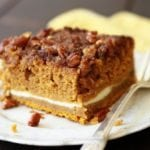Piece of Pumpkin Cream Cheese Crunch Cake
