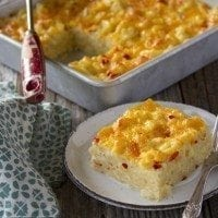 Pimento Mac and Cheese Squares