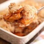 Scoop of Sweet Potato Cobbler