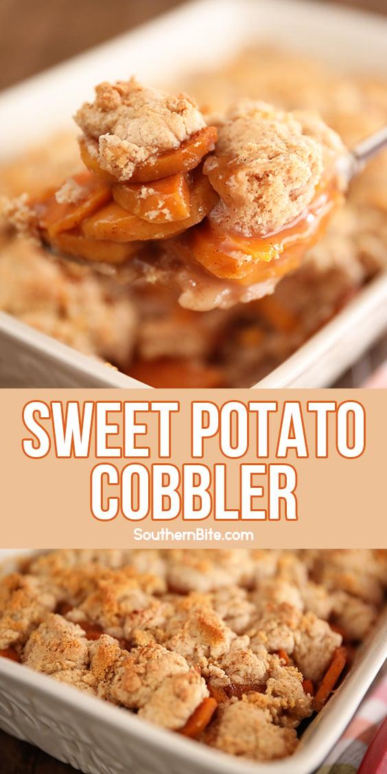 Sweet Potato Cobbler - Image for Pinterest