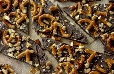 Salted Dark Chocolate Pretzel Bark