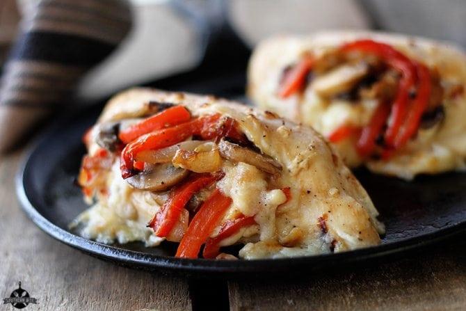 Cheesy Stuffed Chicken