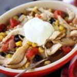 Fiesta Chicken Soup in a Bowl