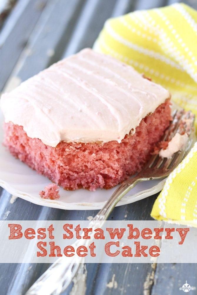 Best Strawberry Flavored Cake Recipe